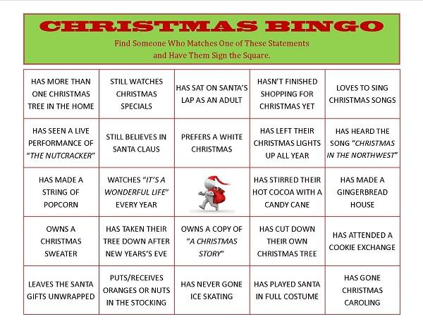 Pics Photos - Celebrations Printable Christmas Bingo Game