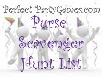 purse scavenger hunt list